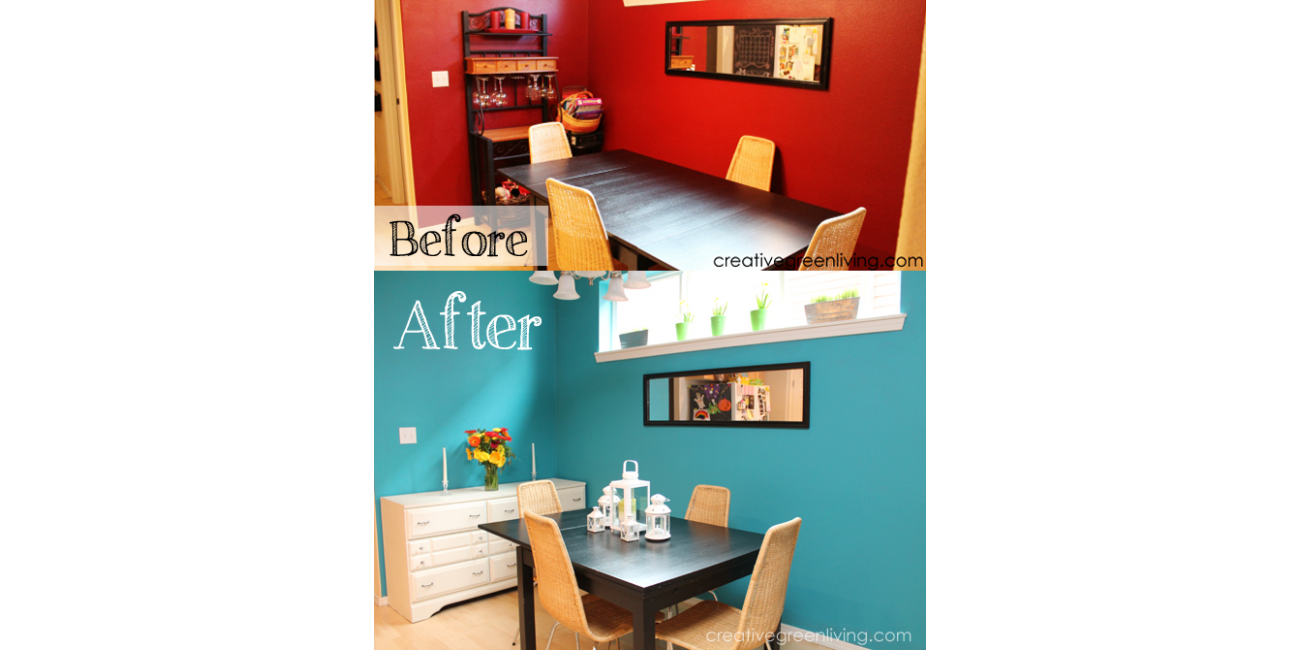 Before & After Dining Room with ECOS Paints