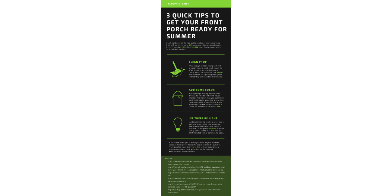 3 Quick Tips to Get Your Front Porch Ready For Summer