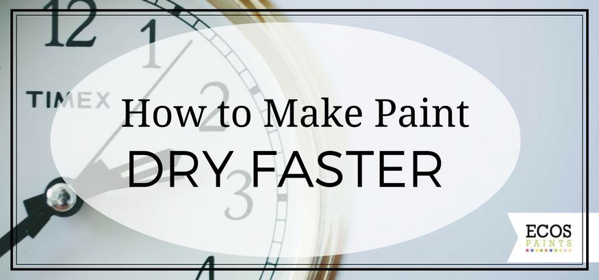 how to make paint dry faster - ecos paints