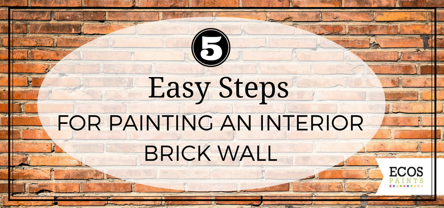 steps for painting an interior brick wall ecos paints. Black Bedroom Furniture Sets. Home Design Ideas