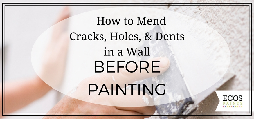 Ecos paint blog diys tips news for green non toxic How to fill a crack in the wall