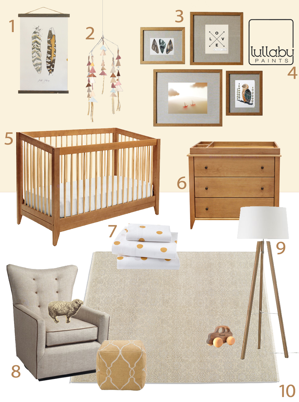 Neutral Colors For Baby Nursery Lullaby Paints