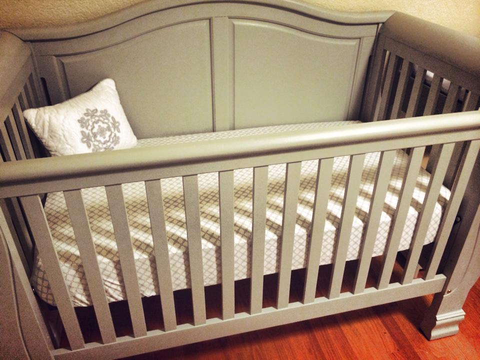 Lullaby DIY A Moonstone Painted Crib  Changing Table