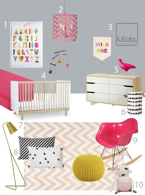 Gray Pink And Yellow Nursery Inspiration From Buy Modern Baby