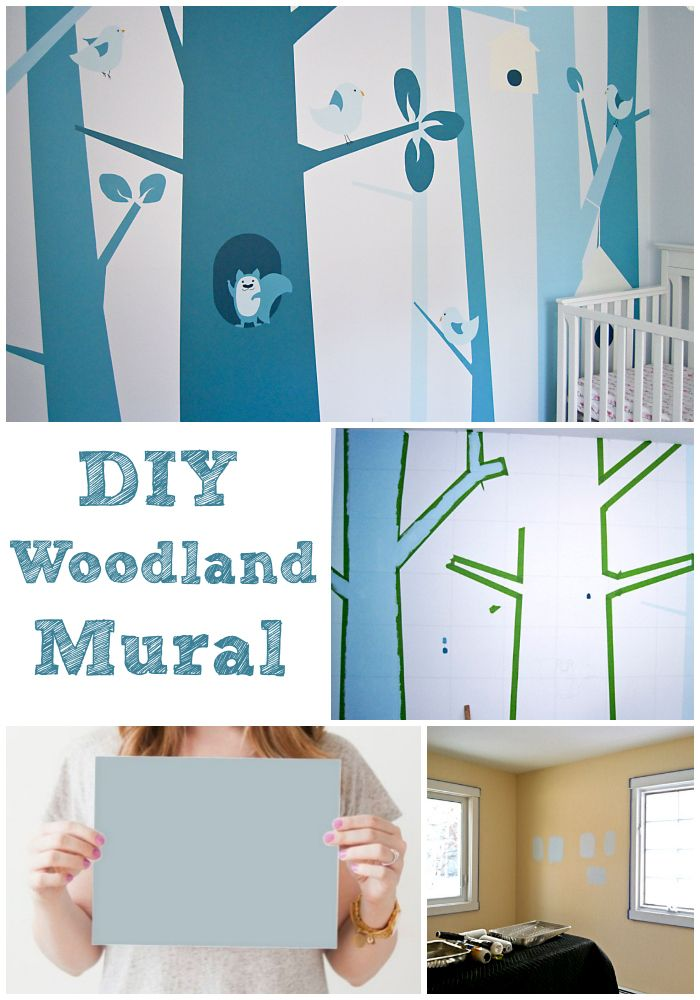 15 fabulously creative painted nurseries giveaway for Diy mountain mural