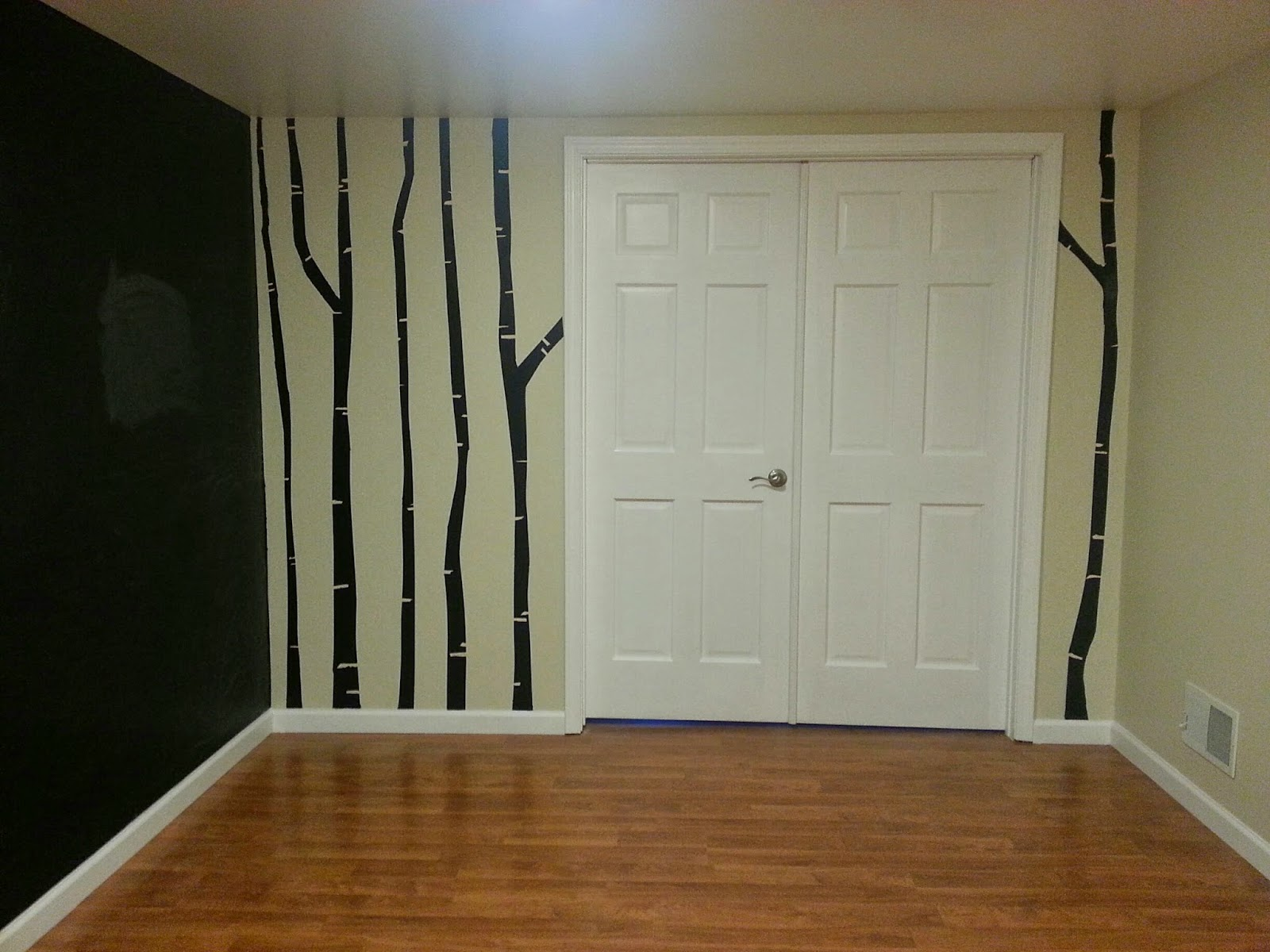 Diy birch tree mural using lullaby paints lullaby paints for Diy birch tree mural