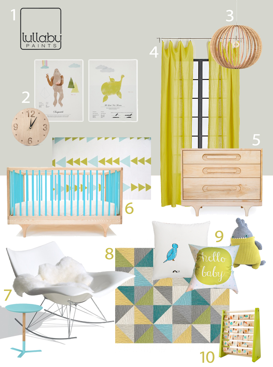 Gender neutral nurseries with bright colors lullaby paints for Bright neutral paint colors