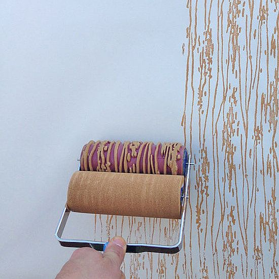Painting Trick DIY Faux Wallpaper For Kids Rooms