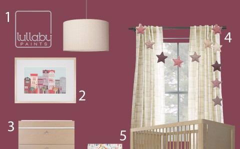 2017 Plum Berry Nursery Design Lullaby Paints
