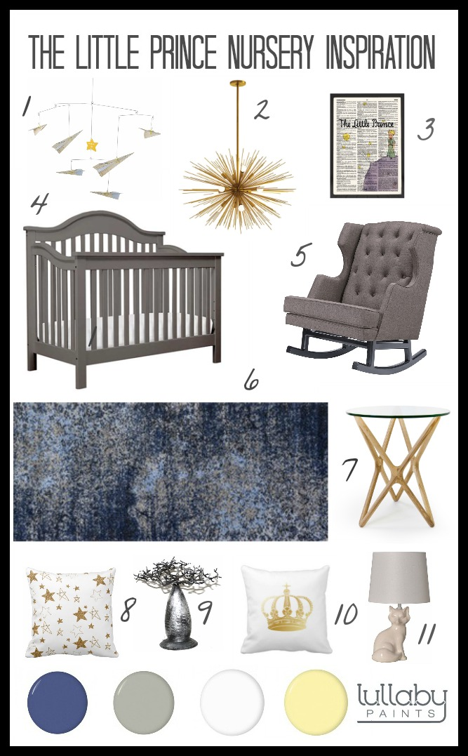 Storybook Nursery Design The Little Prince Lullaby Paints